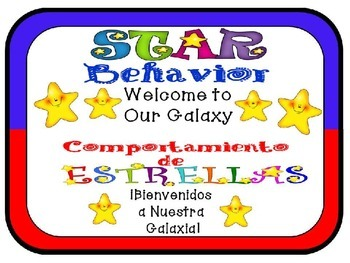 Behavior Chart: Dual Language English and Spanish (Spacesaver)