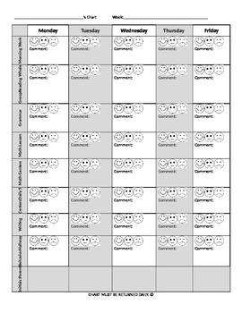 Behavior Chart (EDITABLE)