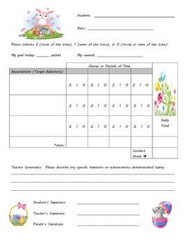 Behavior Chart - Easter Theme