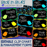 Behavior Chart- Editable Behavior Clip Chart & Management Plan With Forms