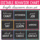 Behavior Chart Editable - Bright Decor