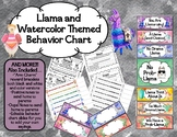 Behavior Chart-Editable- Llama and Watercolor Theme