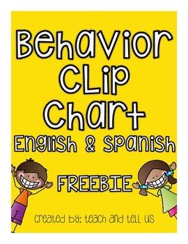 Behavior Chart English & Spanish