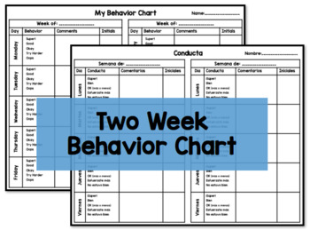 Behavior Chart English & Spanish