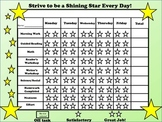Behavior Chart ~ FREEBIE ~ Be a shining star!