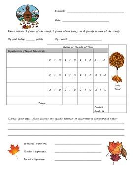 Behavior Chart - Fall Theme