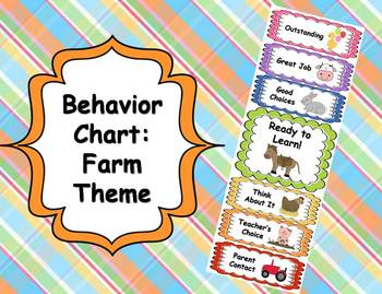 Behavior Clip Chart - Farm Theme