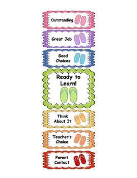 Behavior Clip Chart - Flip Flop Theme