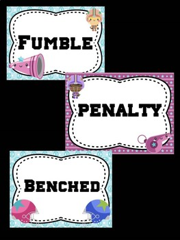 Behavior Chart - Football Theme Behavior Clip Chart