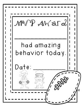 Behavior Chart - Football Theme