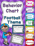 Football Theme Classroom Behavior Chart for Sports Theme Decoration