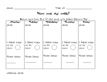 Behavior Chart Form