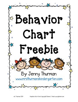Behavior Chart Freebie