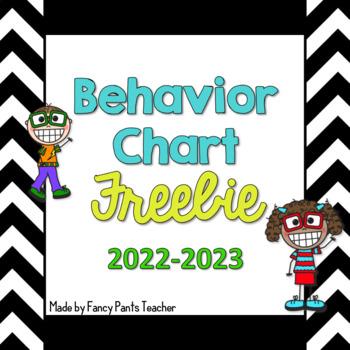 Behavior Chart Freebie 2018-19