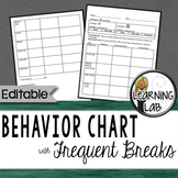 Behavior Chart (Frequent Breaks)