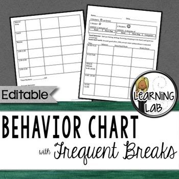 Behavior Chart (Frequent Breaks)