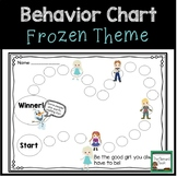 Individual Behavior Chart- Frozen Inspired
