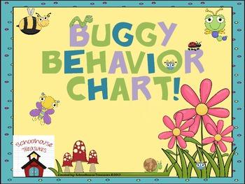 Behavior Chart: Going Buggy Theme -2 Versions
