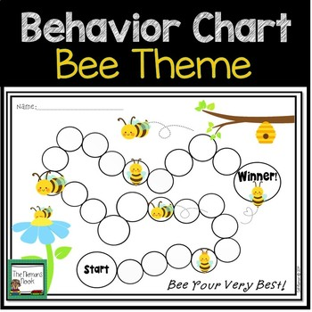FREE Behavior Chart- Grades K-2 Bees