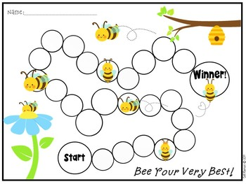 FREE Individual Behavior Chart- Bee Theme