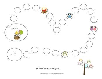 Individual Behavior Chart- Grades K-2 Owls