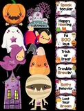Behavior Chart -  Halloween Fun Theme Behavior Clip Chart, Ghosts, Monsters