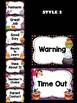 Behavior Chart -  Halloween Fun Theme Behavior Clip Chart, Ghosts, Monsters