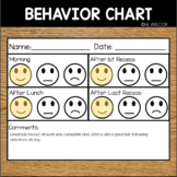 EDITABLE Behavior Chart Happy Okay Sad Face Positive Reinf