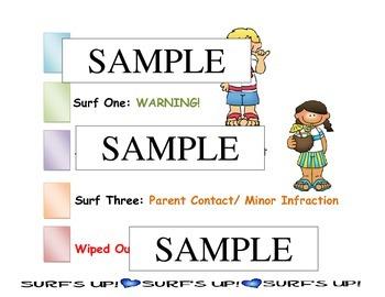 Behavior Chart Hawaiian-Luau-Beach theme