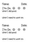 Behavior Chart Home Report