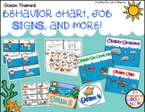 Behavior Chart, Job Chart, and Table Numbers  - Ocean Theme