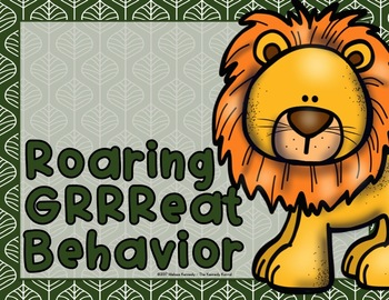 Behavior Clip Chart: Jungle/Safari