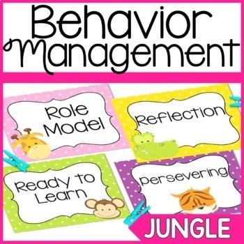Behavior Chart- Jungle Theme