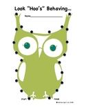 """Owl Themed Behavior Chart: """"Look Hoo's Behaving"""""""