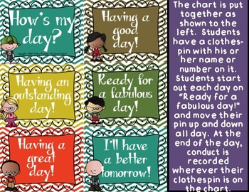 Behavior Chart: How's My Day? {Melonheadz Kids}