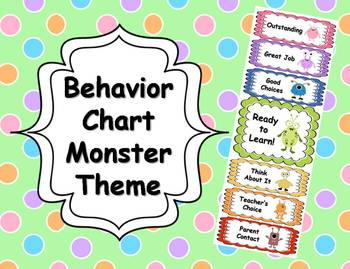 Behavior Clip Chart - Monster Theme