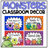 Behavior Clip Chart in a Monsters Classroom Decor Theme