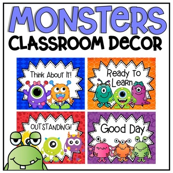 Behavior Clip Chart {Monsters Classroom Decor Theme}