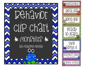 Behavior Chart Monsters