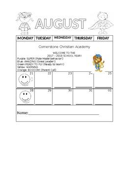 Behavior Chart Monthly