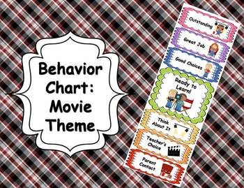 Behavior Clip Chart - Movie Theme