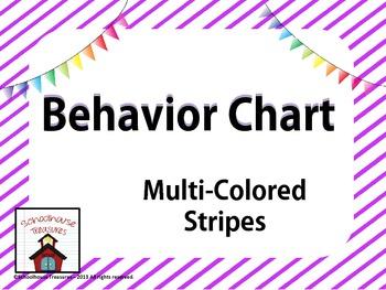 Behavior Chart: Multi-Striped