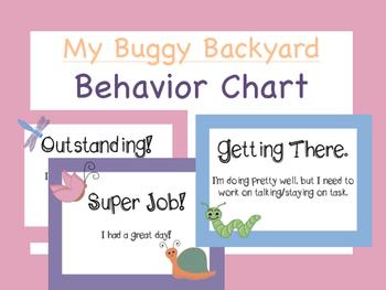 Behavior Chart:  My Buggy Backyard