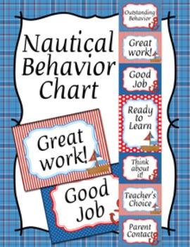 Behavior Chart Nautical Theme