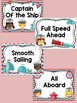 Behavior Chart - Nautical Theme Behavior Clip Chart : Cute Marine Ocean Sailor