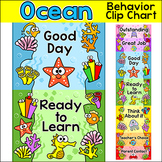 Ocean Theme Behavior Chart - Under the Sea Theme Clip Chart