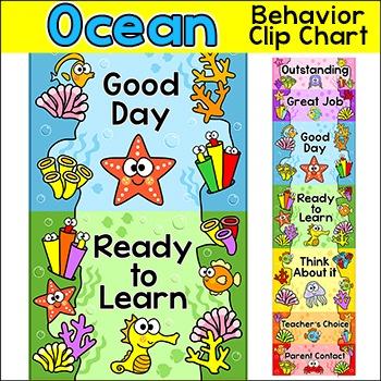 Ocean Theme Behavior Chart - Under the Sea Theme Clip Chart