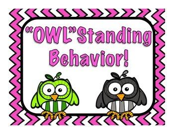 Behavior Chart- Owl Theme