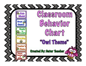 Behavior Chart- Owl Theme