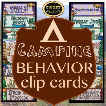Behavior Chart - Peg Up/Peg Down (Camping Theme)
